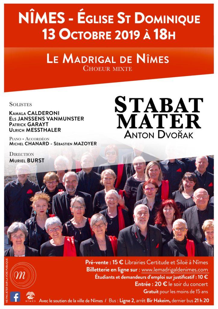 affiche concert Nîmes 13 octobre 2019
